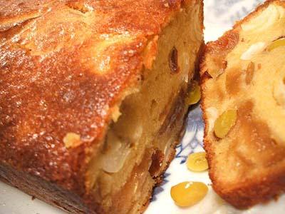 銀杏と百合とりんごのパウンドケーキ